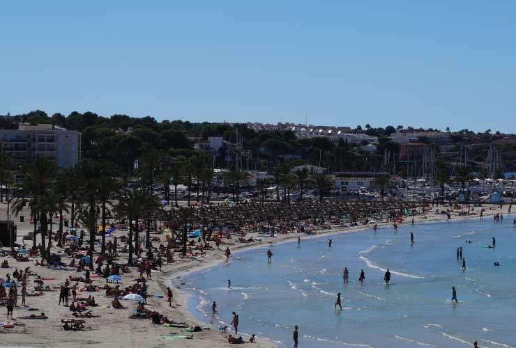 Lageplan Und Wegweiser Vom Ballermann Auf Mallorca